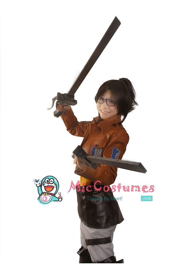 Attack on titan Hanji Zoe Cosplay Costume