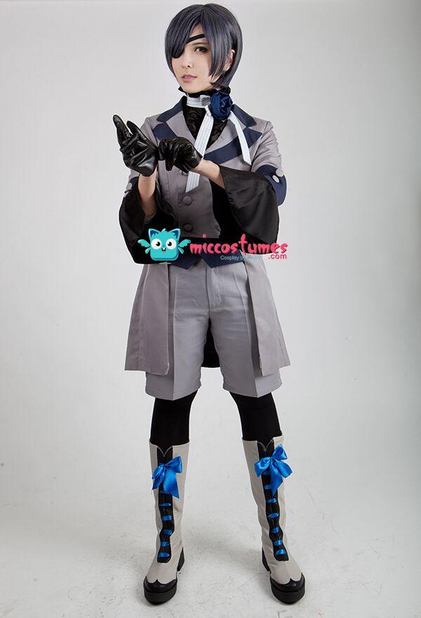Black Butler Ciel Phantomhive Gray Cosplay Costume