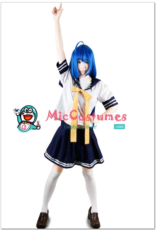 Lucky Star Konata Izumi Summer Uniform Cosplay Costume