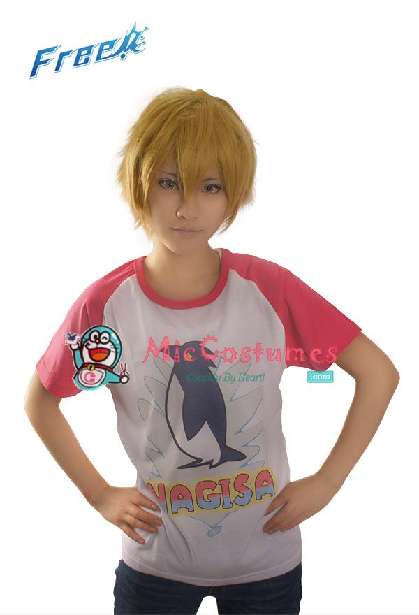 Free! Iwatobi Swim Club Nagisa Hazuki Cosplay T-shirt