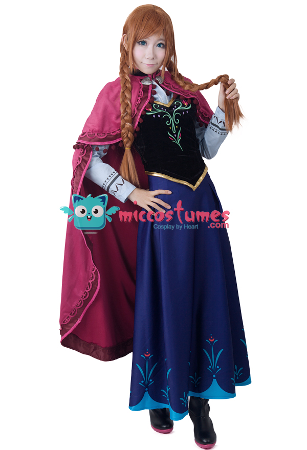 Frozen-Princess-Anna-Cosplay-Costume
