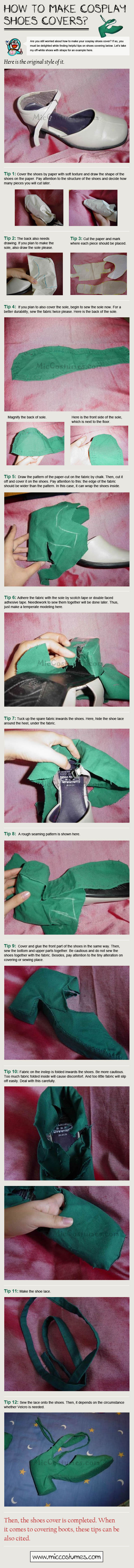 How To Make Shoe Covers For Cosplay [Infographic]