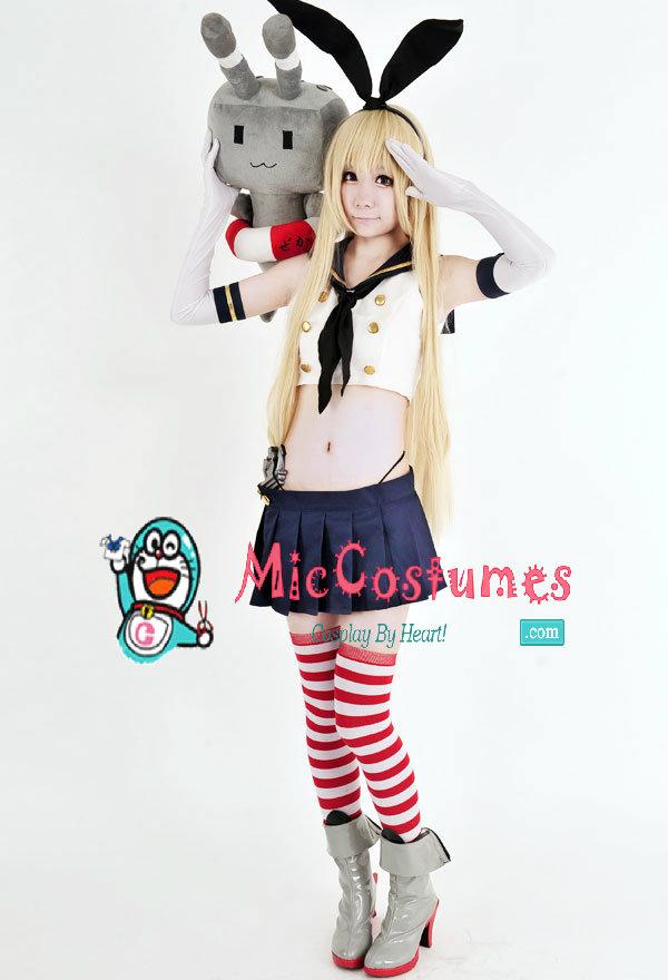 Kantai Collection Shimakaze Cosplay Costume