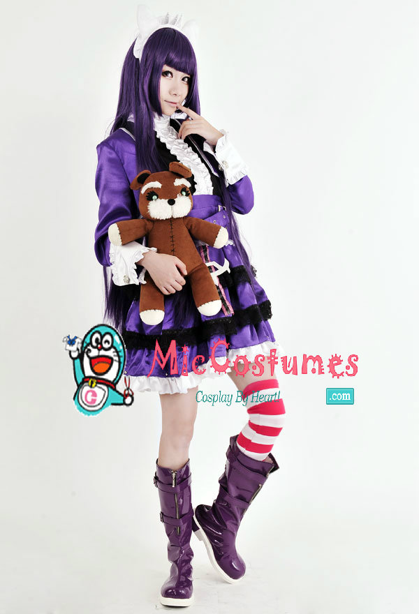 League of Legends Dark Child Annie Purple Lolita Costume