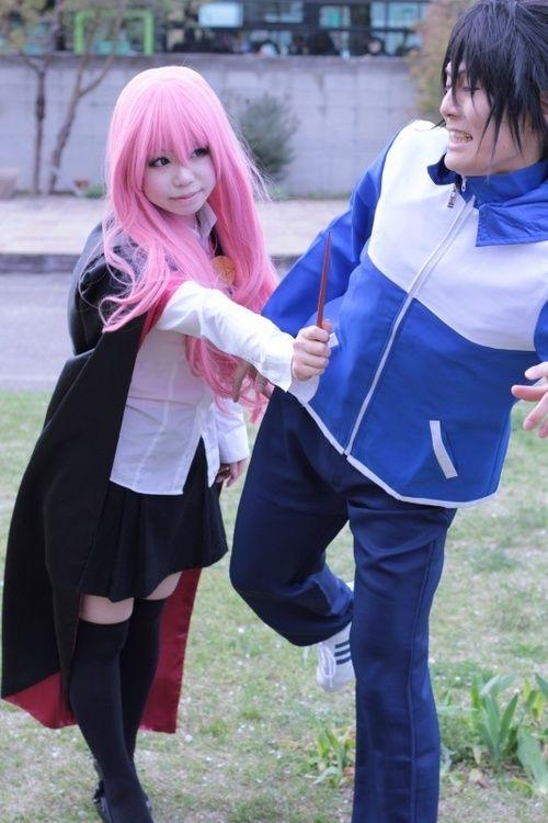 Louise & Saito Hiraga from The Familiar of Zero