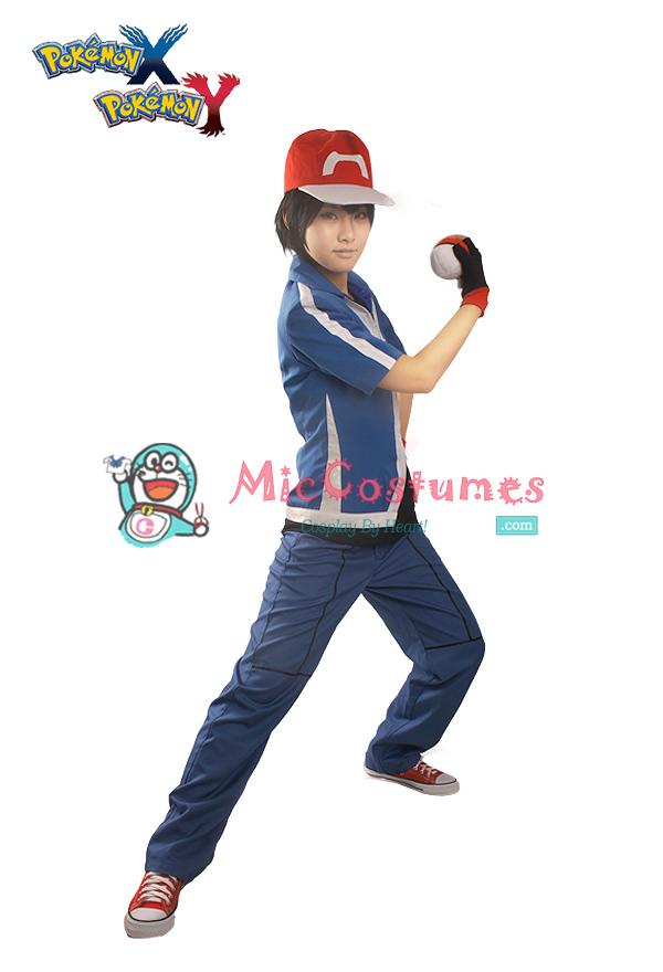 Pokemon X and Y Ash Ketchum Cosplay Costume