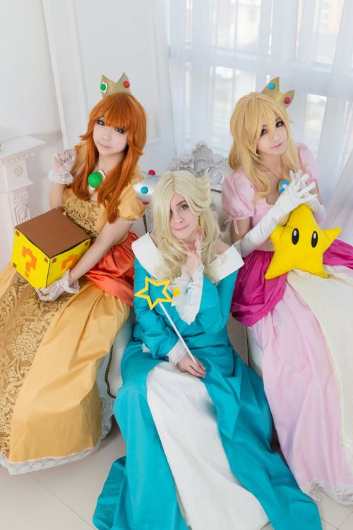 Rosalina, Princess Peach, and Princess Daisy