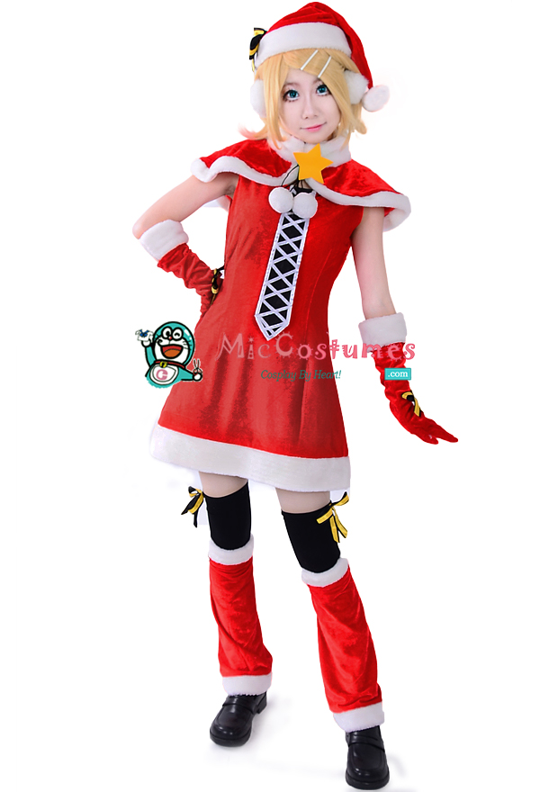 Vocaloid_Rin_Christmas_Cosplay_Costume_1