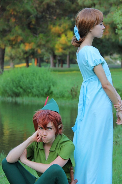 Wendy and Peter Pan