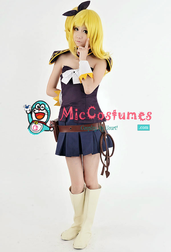 fairy tail lucy purple cosplay costume