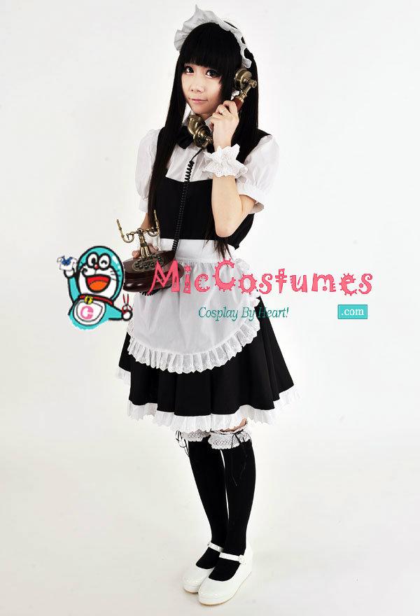 japanese cute maid costume