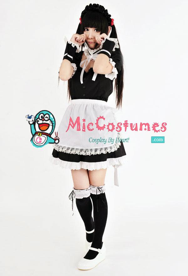 japanese summer maid costume