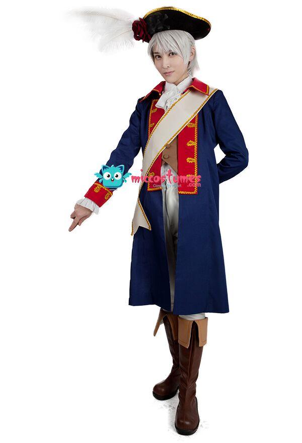 Axis Powers Hetalia Prussia Seven Years' War Cosplay Costume