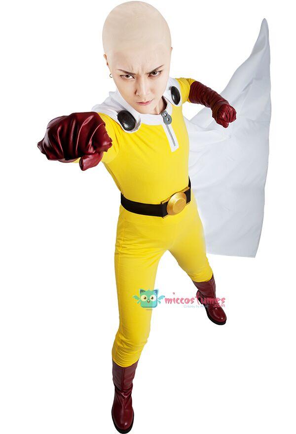 One Punch Man Saitama Cosplay Costume