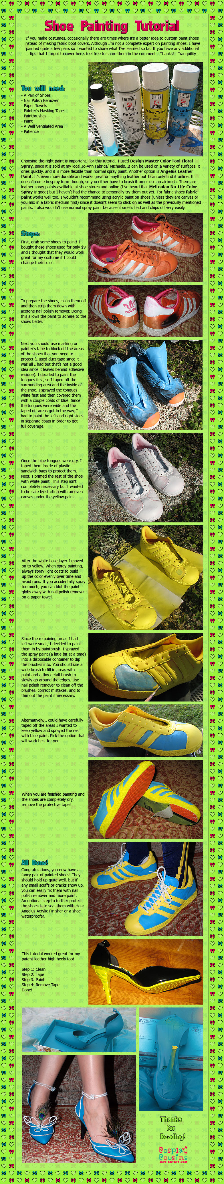 shoes painting tutorial