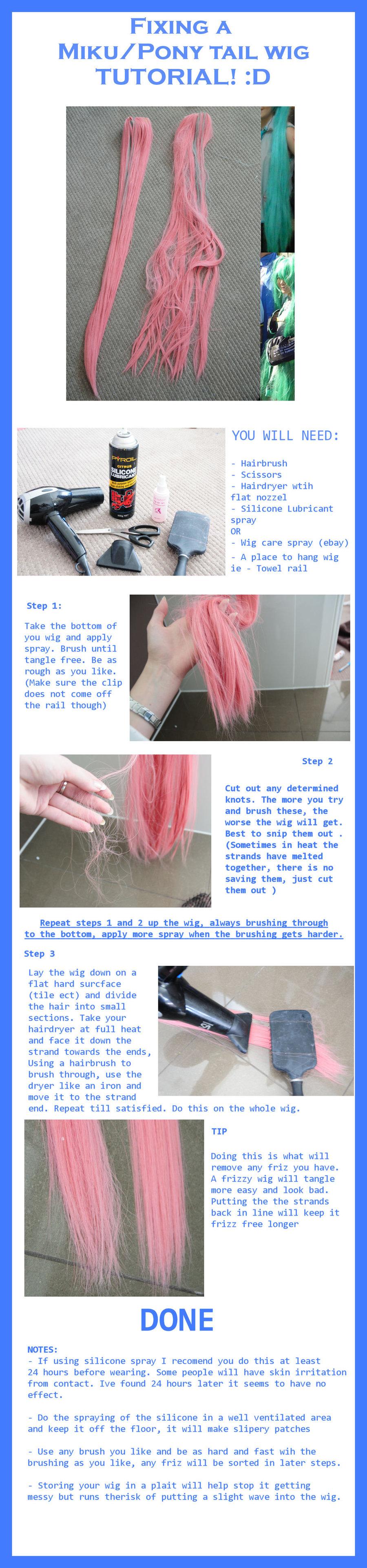 How to fix a Miku wig